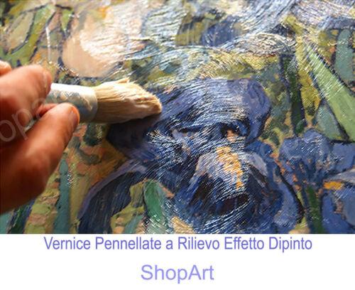 Quadro Magritte l/'Uomo con la Bombetta Stampa su Tela Cotone Vernice Pennellate