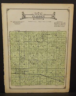 North America Maps Have An Inquiring Mind Iowa Carroll County Map Glidden Township 1923 W20#37