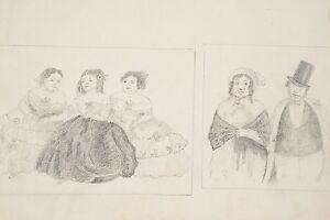 En En Caricatures Femmes De Daumier D'après Robe Trois Dessin Xix° OxSq5wXYY