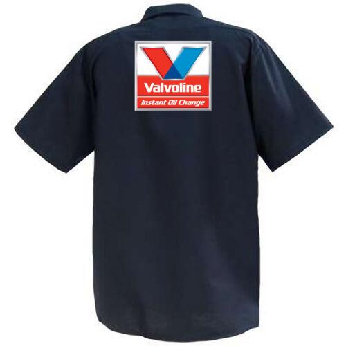 Valvoline Instant Oil Change Mechanics Graphic Work Shirt  Short Sleeve