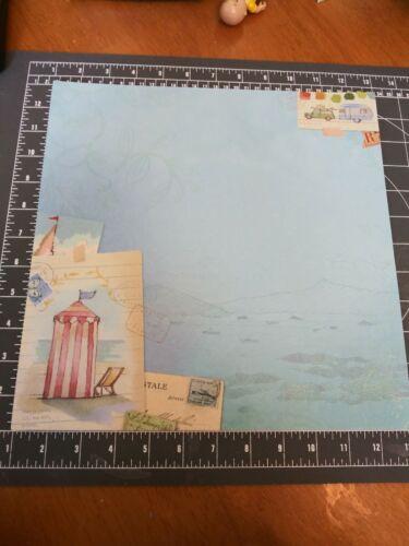 "K/&Co 12/"" Scrapbook Paper 5 pc Lot Barbara Walton Around World Coast Shore Travel"