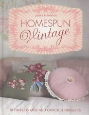 Homespun Vintage: 20 Timeless Knit and Crochet Projects-ExLibrary