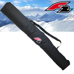 F2-SKITASCHE-fuer-1-Paar-Ski-Alpin-mit-Stoecken-Transporttasche-Schwarz-FTWO-yx13