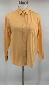 Lauren-Ralph-Lauren-Womens-Button-Down-Shirt-Orange-Size-M-Cotton-Top-G11