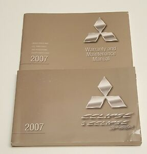 2007 mitsubishi eclipse eclipse spyder owners manual guide gs gt rh ebay com 2007 mitsubishi eclipse owners manual gt 2007 mitsubishi eclipse gt service manual