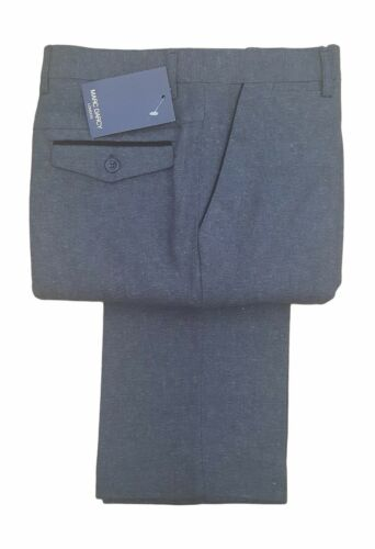 MASON CHARCOAL MENS MARC DARCY VINTAGE FORMAL TWEED TROUSERS