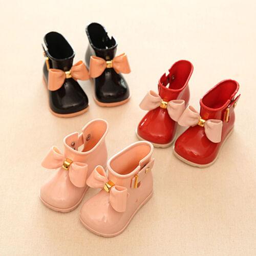 Säugling Baby Kinder Mädchen Non-Slip Gummistiefel Stiefel Regenstiefel Schuhe