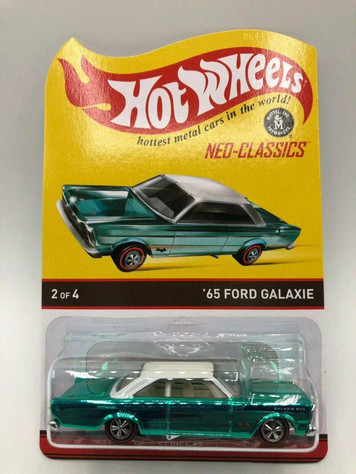 Hot Wheels RLC NEO-Classics Teal Grün 65 Ford Galaxie MIBP Shipped In Protector