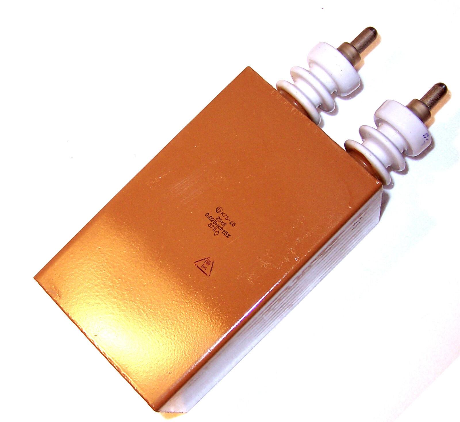 0.025uF (25nF) 50 25kV Pulse Capacitor. New (Ultra High voltage Laser Tesla)