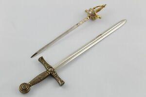 Set de 2 ABRECARTAS con forma de Espada y Florete.   VINTAGE   Años 80  Toledo