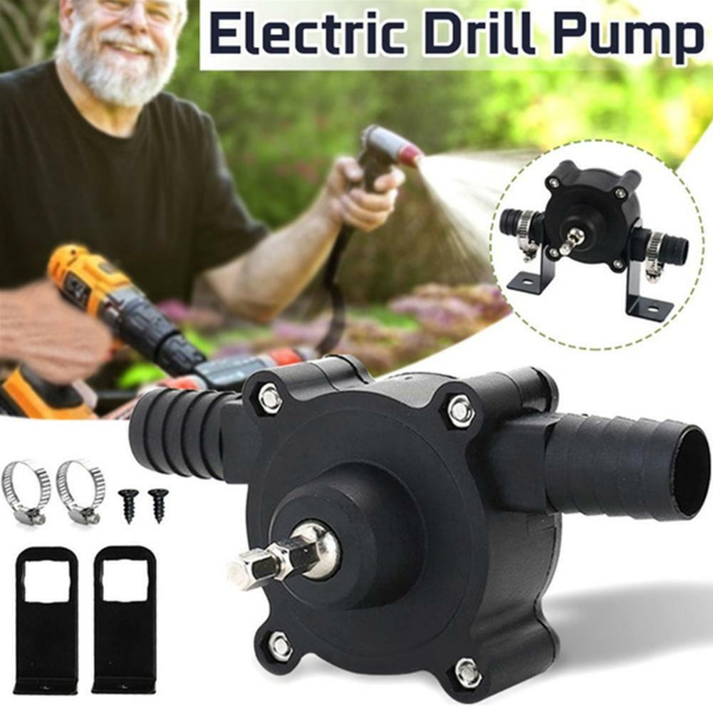 Small Hand Electric Drill Drive Self Priming Pump Oil Fluid Water Transfer HOT