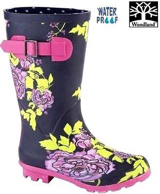 Clarks SNOW Girls kids Teens Boots Pink Winter WATERPROOF Lined Padded Wellies