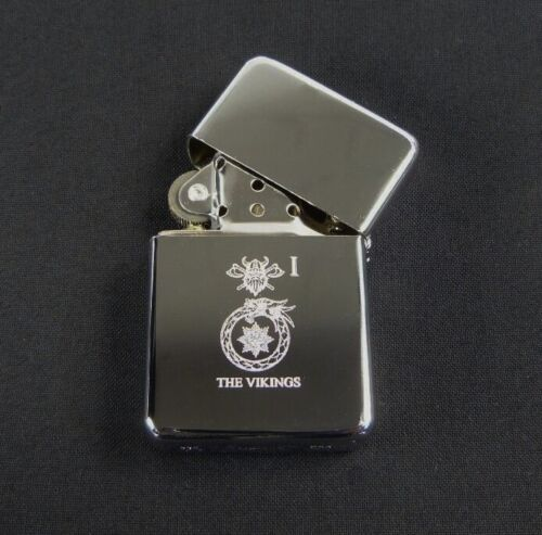 1 Bn The Anglian Regiment The Vikings Regimental style flip top Engraved Lighter