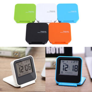 small digital alarm clock w temperature calendar date. Black Bedroom Furniture Sets. Home Design Ideas