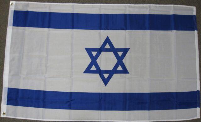 3X5 ISRAEL FLAG ZION JEWISH ISRAELI BANNER NEW F486