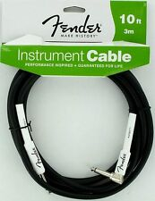 NEW Fender Performance Guitar Cable 10' Black Right Angle