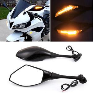 MOTORCYCLE-LED-TURN-SIGNAL-LIGHT-REARVIEW-MIRRORS-HONDA-04-08-CBR-600RR-amp-1000RR