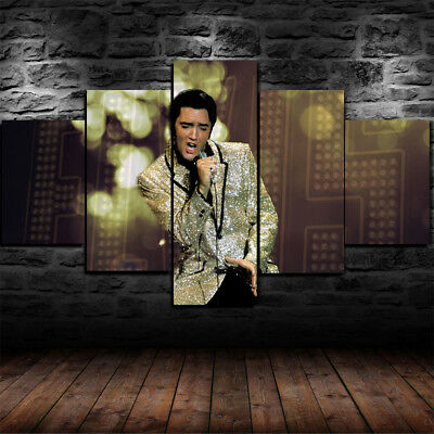 Elvis Presley Canvas Print Framed Music Icon Wall Art Picture