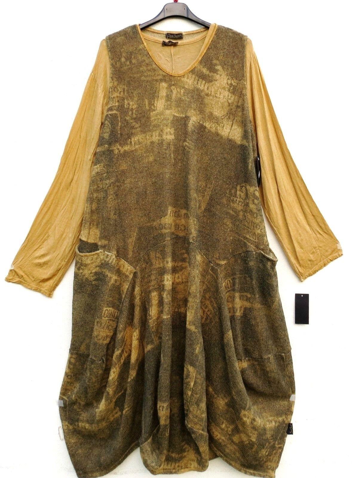 NUOVO Sarah Santos abito a a a Maglia Abito Palloncino vestito robe dress XXL 52 54 Lagenlook  c13468