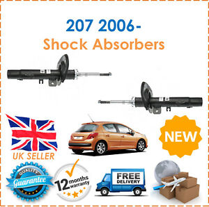 For Peugeot 207 2006 Two Front Gas Shock Absorbers Set Pair 47mm Housing New Ebay