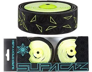 Supacaz Super Sticky Kush Star Fade Bar Tape Neon Yellow