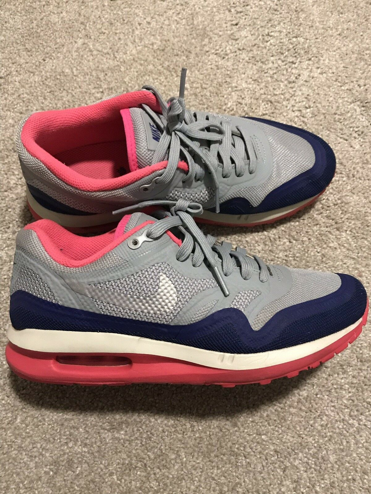 Nike Air Max Lunar 1 Light Magnet Grey Pure Pink Women's Size 7