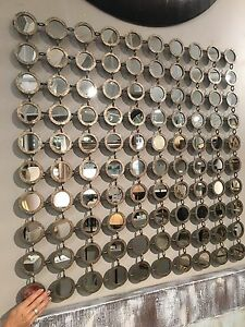 Image Is Loading New 40 034 Contemporary Small Round Mirrors Forged
