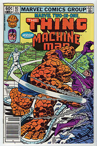 Marvel-Two-In-One-93-Nov-1982-Marvel-VF-LOT-8-Thing-Machine-Man-ULTRON-unread