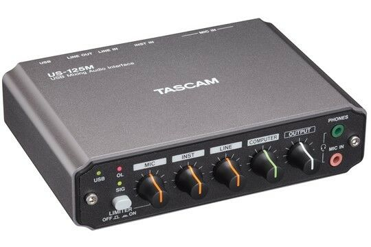 TASCAM US-125MUSB Mixing Audio Interface