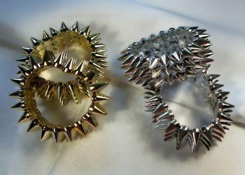 Bracelet spikes bracelet gothique bracelet Punk Rocker Mardi Gras Or Argent