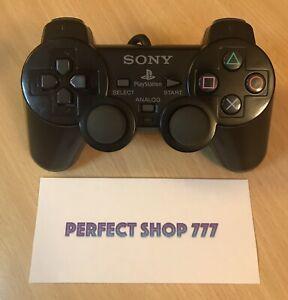 Manette Ps2 Noire Officielle Sony -Bon État -FR- Testée Nettoyée- Charcoal Black