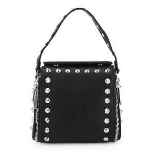 Ladies-Studded-Bag-Women-039-s-Long-Half-Chain-Messenger-Crossbody-Bags-New-UK