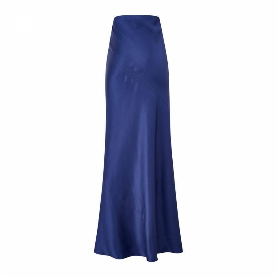 Amanda Wakeley Asayva Mulberry Drape Bias Satin Wedding Evening Skirt 8 36