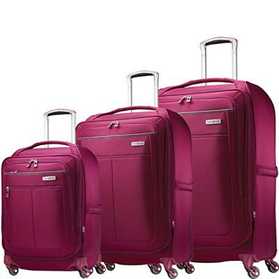 "Samsonite MIGHTlight Luggage Nested Spinner Set (21""/25""/30"") Berry 62650-1944"