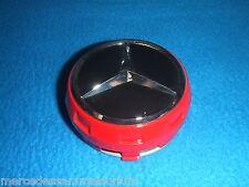Mercedes Benz AMG Genuine Satz 4 Radnabenkappen 75mm Rot Neu OVP