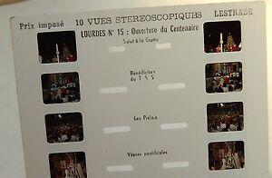 Carte-Stereoscopique-LESTRADE-LOURDES-N-15-Ouverture-du-CENTENAIRE