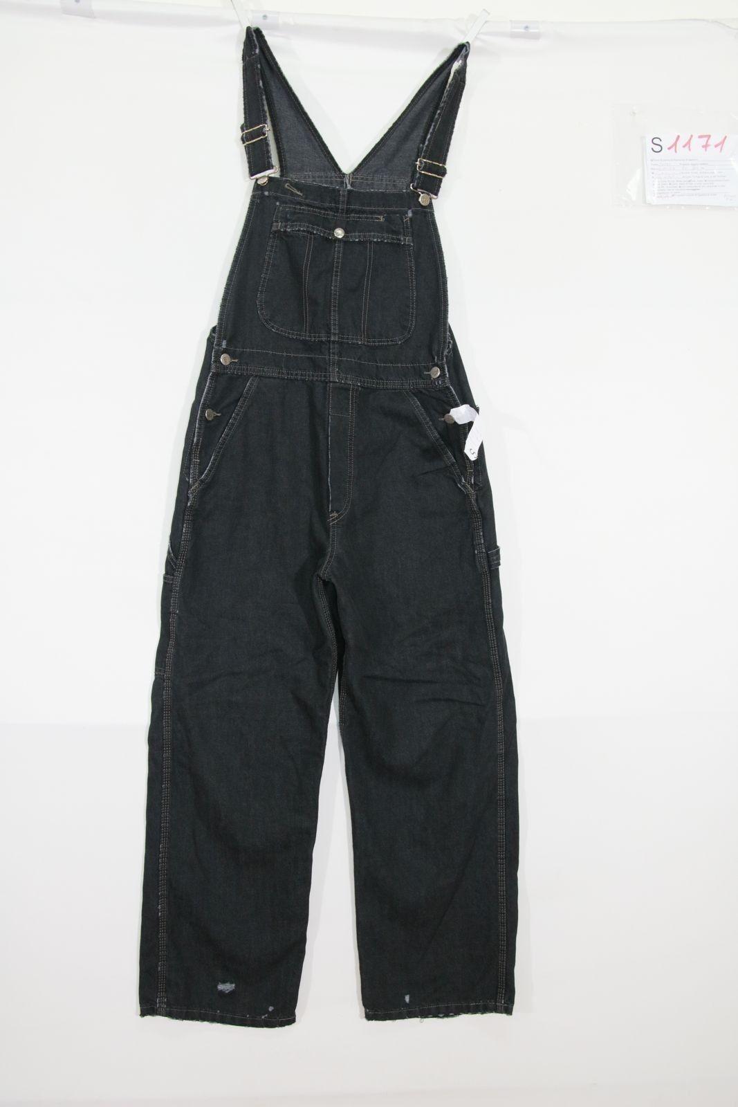 Salopette Lee (Cod. S1171)  jeans usato vintage black