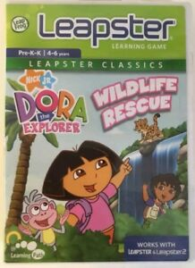 Leap-frog-Leapster-Dora-The-Explorer-pre-K-K-Wildlife-Rescue-Ages-4-6-game