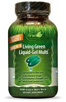 Irwin Naturals - Living Green Liquid Gel Multi For Men - 120 Softgels