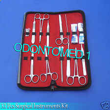 32 Pcs Surgical Instruments Kit Stainless Steel With Velvet Pouch