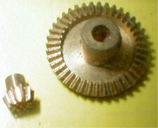 4.5:1 Ratio BRASS BEVEL GEARS 1960's Vintage by Classic #3225 .093 Slot Car Part