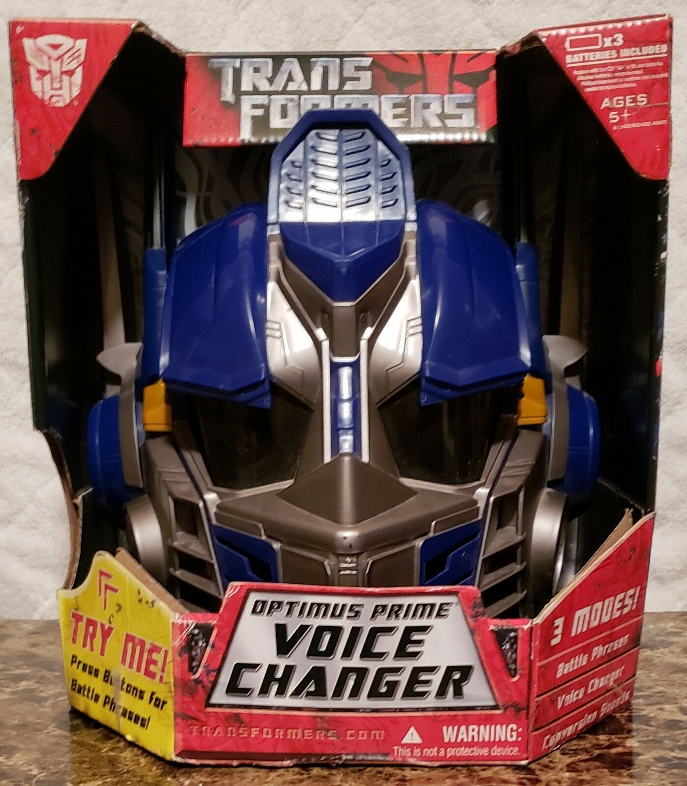 Transformers Optimus Prime Voice Changer Helmet Mask Collectable NIB