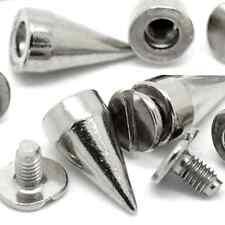 Bullet Cone Spike 100 Set 13MM Silver Color Stud Metal Screw Back Leather-craft