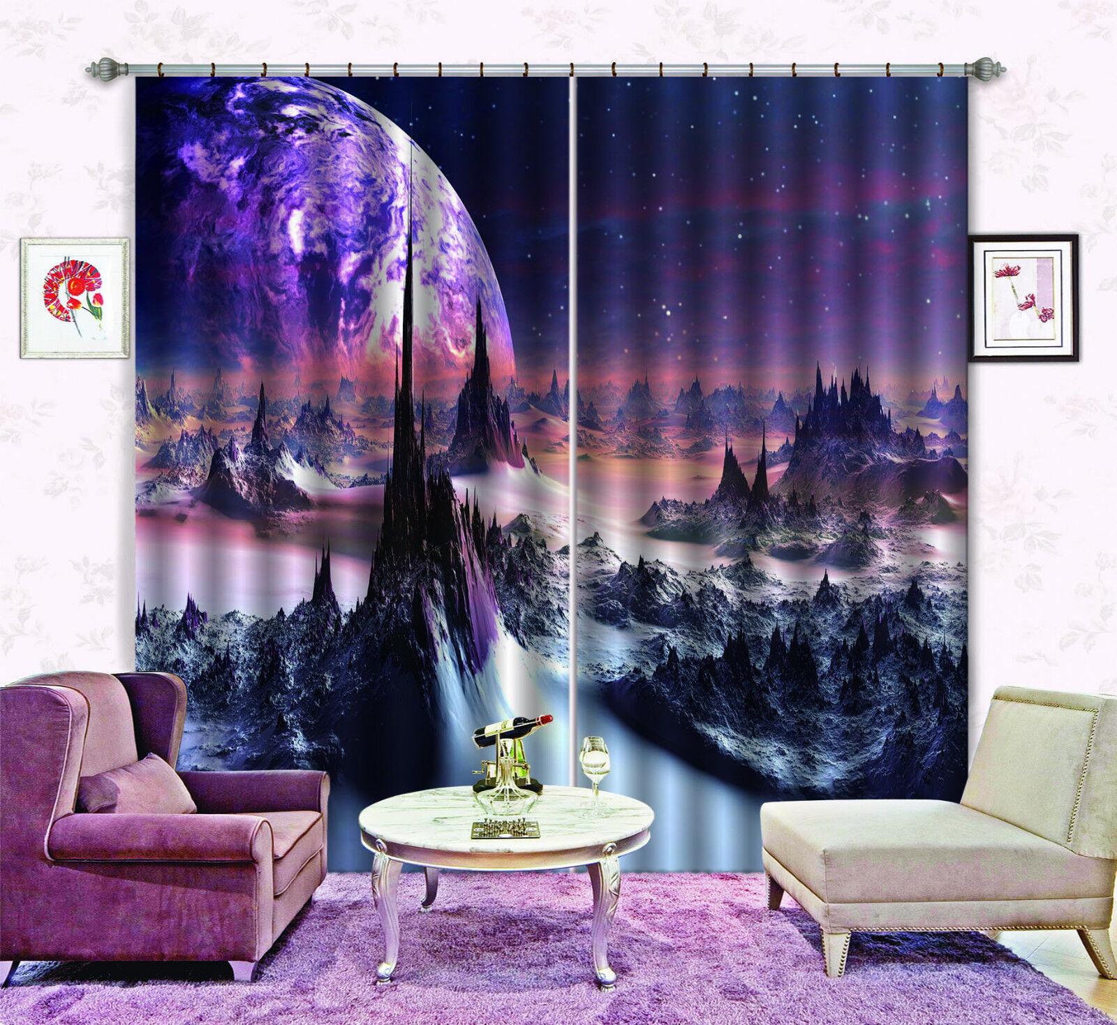 3d extraterrestres 42 bloqueo foto cortina cortina de impresión sustancia cortinas de ventana