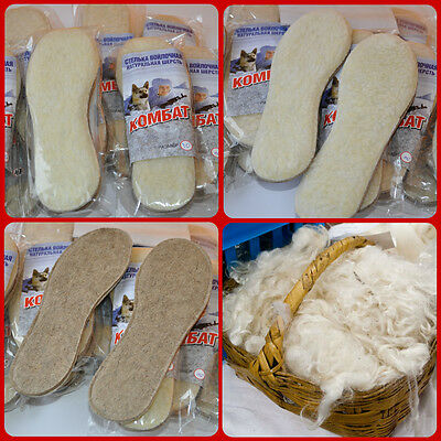 NEW HEAT-SAVING WINTER SHEEP 100/% WOOL INSOLES FOR WOMEN/'S SHOES THICK FELT BASE