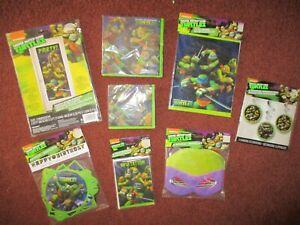 Details About Teenage Mutant Ninja Turtles Birthday Party Supplies Decor