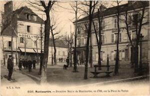 CPA-PARIS-18e-Place-du-Tertre-Premier-Mairie-du-Montmartre-539553