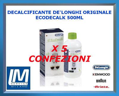 DECALCIFICANTE DE LONGHI ECODECALK 500ML 5513296041 X TUTTE LE MACCHINE DA CAFFÈ