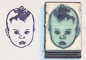 rubber stamp Girl Child