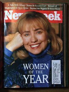 1992-Newsweek-Magazines-Bill-Hillary-Clinton-Malcom-X-Princess-Diana-Bound-vol
